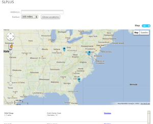 Show Map Slider Button On