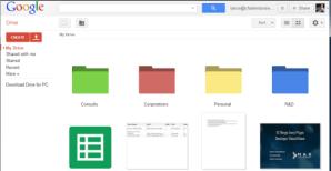 google drive colored folders
