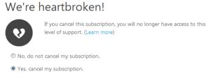 No Azure Support