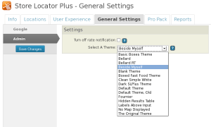 Store Locator Plus 4 - Selecting A Theme