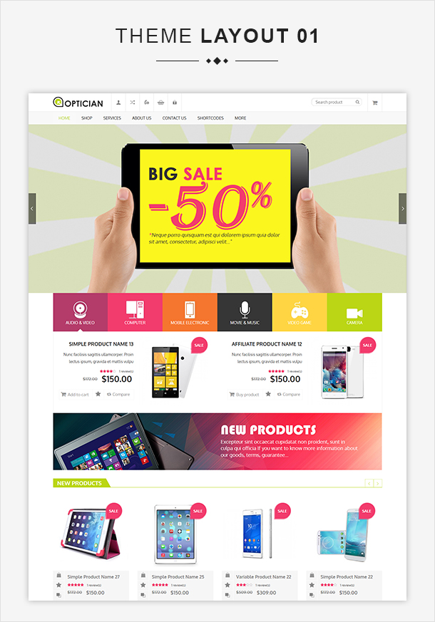 VG Optician - Responsive eCommerce WordPress Theme - 6