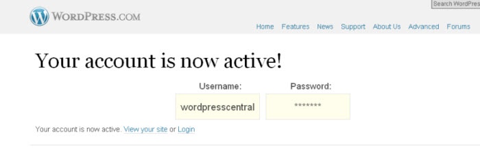 Congratulations on your new free wordpress blog