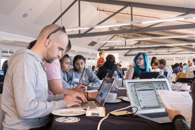 Cape Town do_action participants working on the non-profits websites