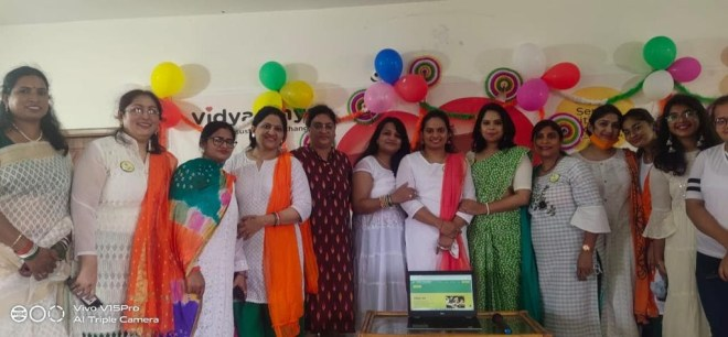 Representatives of the Vridhi Foundation at their website launch event on August 15, 2021