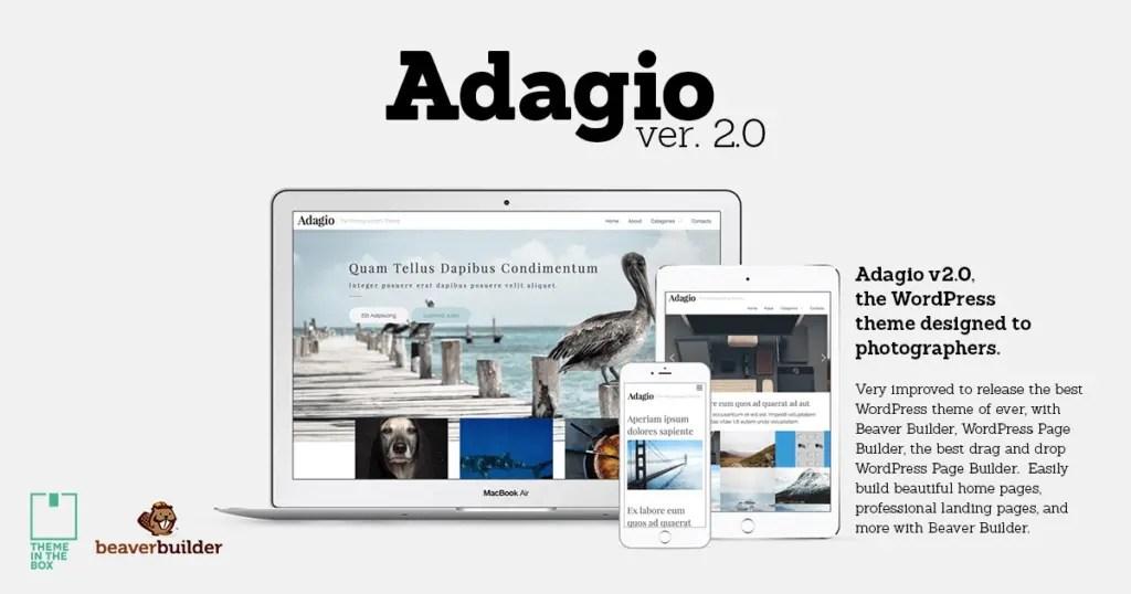Adagio - Tema gratuito WordPress