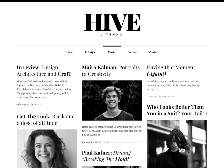 Hive Lite WordPress theme