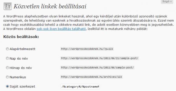 Keresőbarát linkek WordPressben
