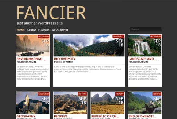 Fancier WordPress sablon