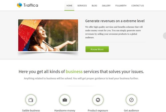 Traffica WordPress sablon