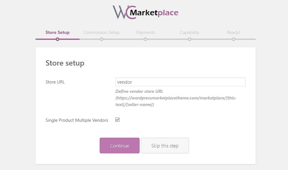 woocommerce wc marketplace store setup