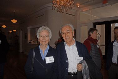 Montez Farah and Mounir Farah at the Dec. 10, 2018, Retired Faculty Luncheon