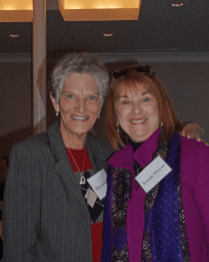 Sharon Hunt and Susan Mayes at the Dec. 10, 2018, Retired Faculty Luncheon