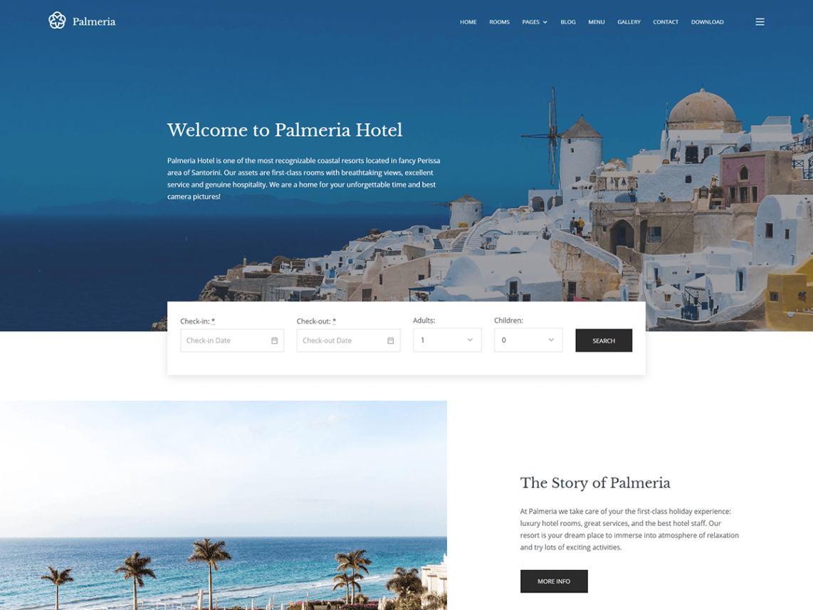 Palmeria WordPress Theme