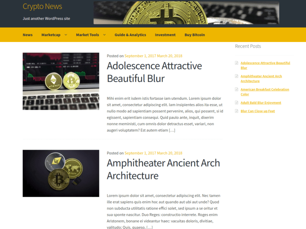 crypto-news WordPress Theme