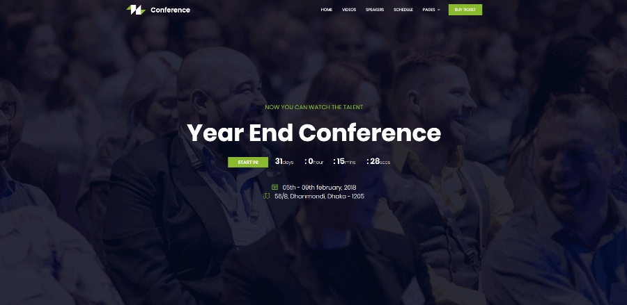 Conference HTML Free Template
