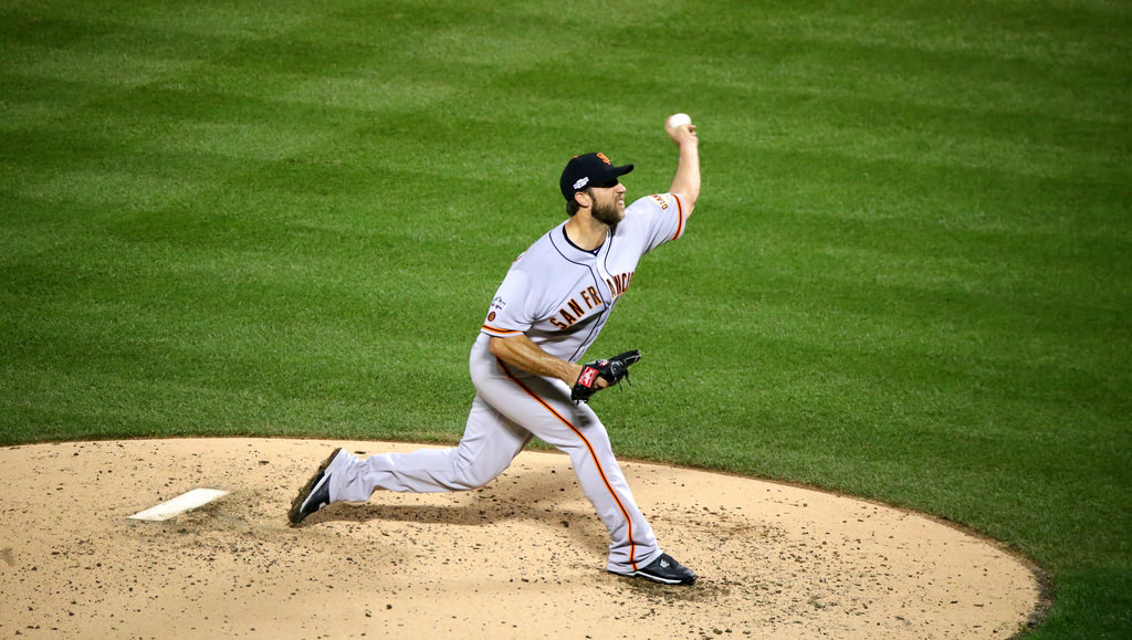 Madison Bumgarner in action for the San Francisco Giants.