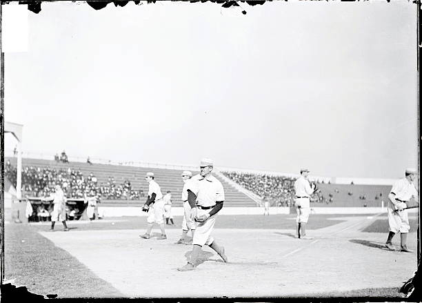 Bob Wicker warming up before a game in 1903.