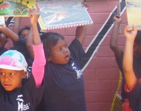Fourteen preschoolers, two Indigenous books and a LOT of excitement
