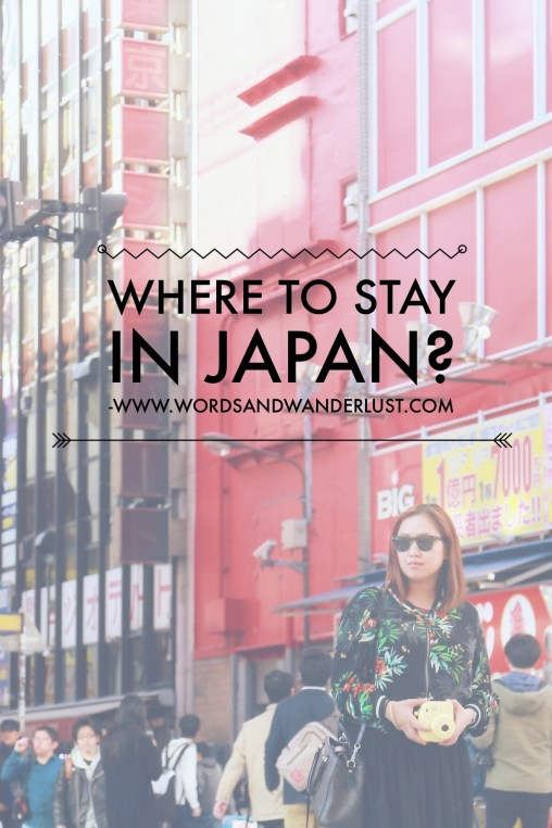where to stay in japan - words and wanderlust - pinterest