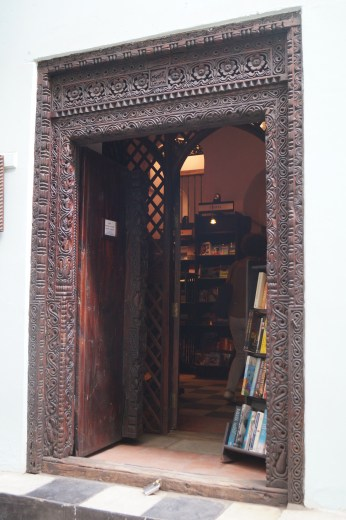 The magnificent doorway to a bookshop!