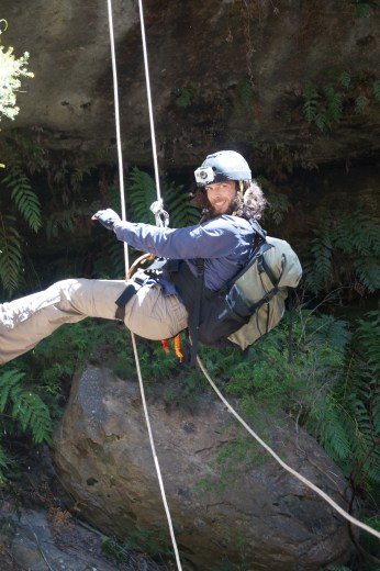 Tiger Snake, Nick on long abseil.