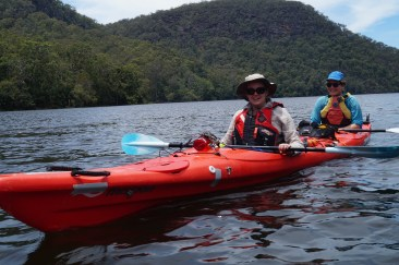 Jenny and Claire, double kayak