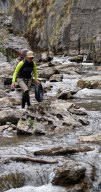 Jas crosses Cave Creek