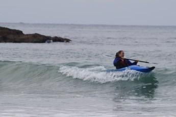 Galina surf kayaking