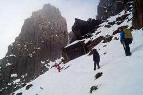 Ossa ascent, winter landscape