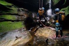 Geronimo, waterfall abseil