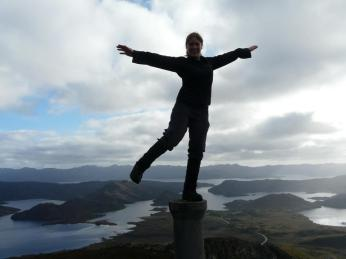Standing triumphantly atop the obscure Mt Cullen