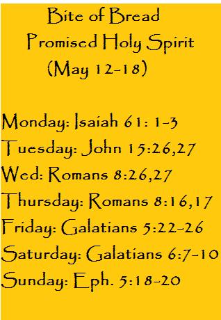 Bite of Bread May 12-18- Holy-Spirit