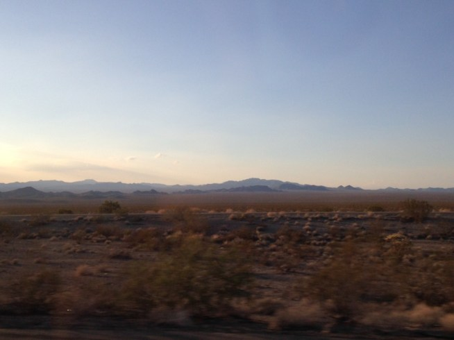 Mojave desert at sunset