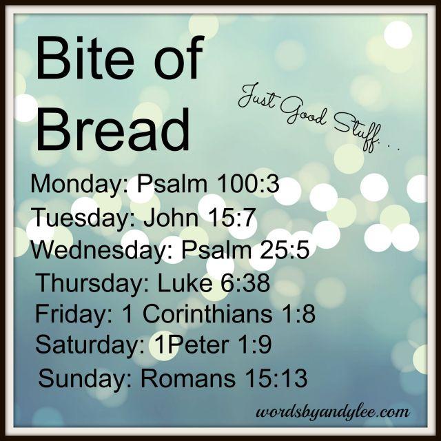Bite of Bread Just good stuff