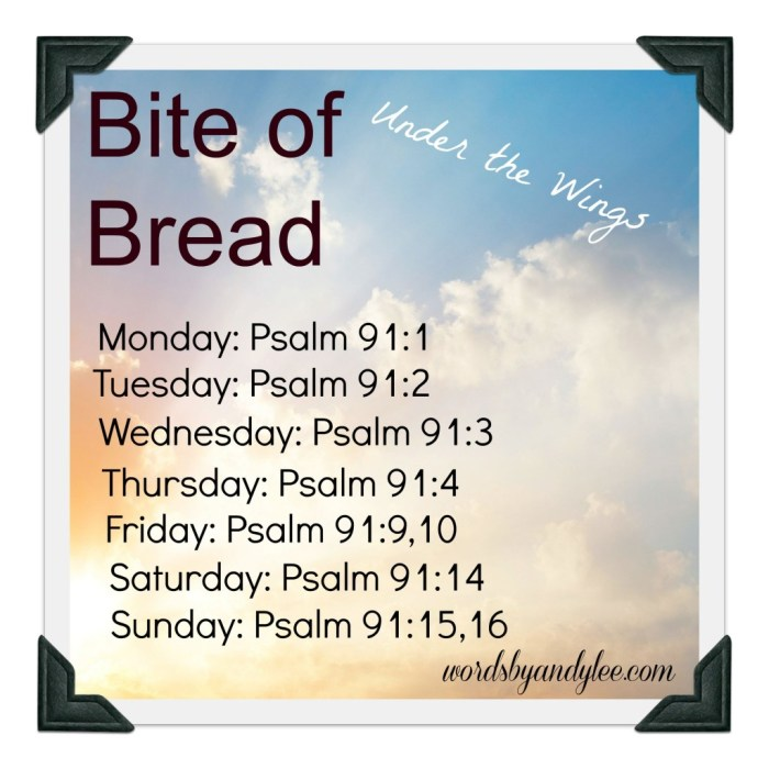 Bite of Bread Psalm 91