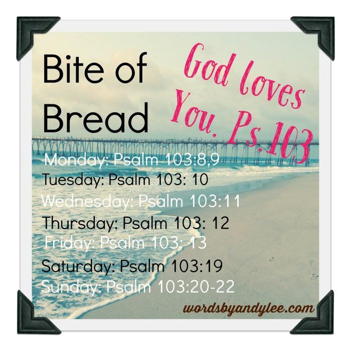 Bite of Bread Psalm 103
