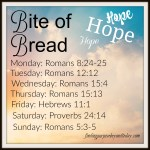 Bite of Bread: Bible Reading Plan for Hope