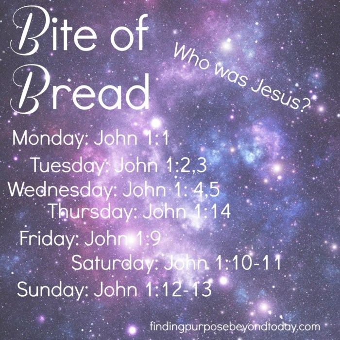 Bite of Bread Who was Jesus