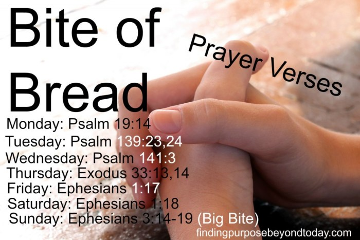 Bite of Bread Prayer verses
