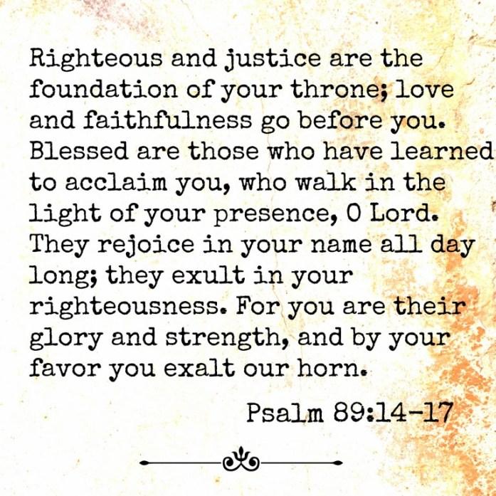 Psalm 89-14