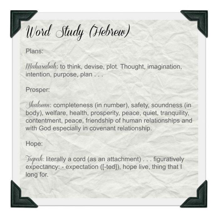 Word study Jer 29