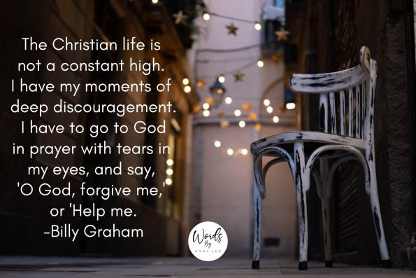 Billy Graham Discouragement