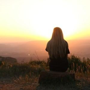 woman sunrise