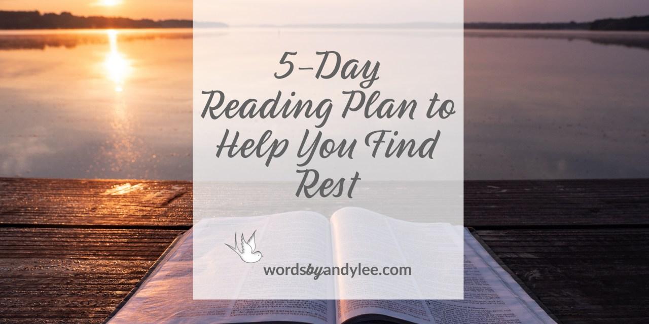 bible reading plan rest