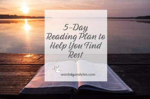 bible reading plan rest