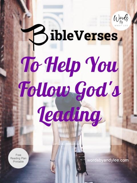 Verses to help follow God
