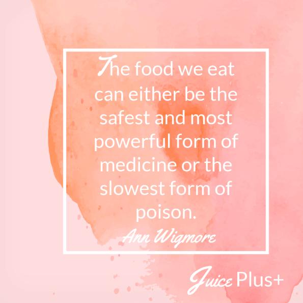 The food we eat heals or kills