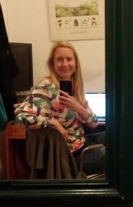 A selfie taken sitting at a desk