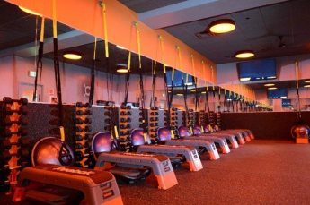 orangetheory-weight-room