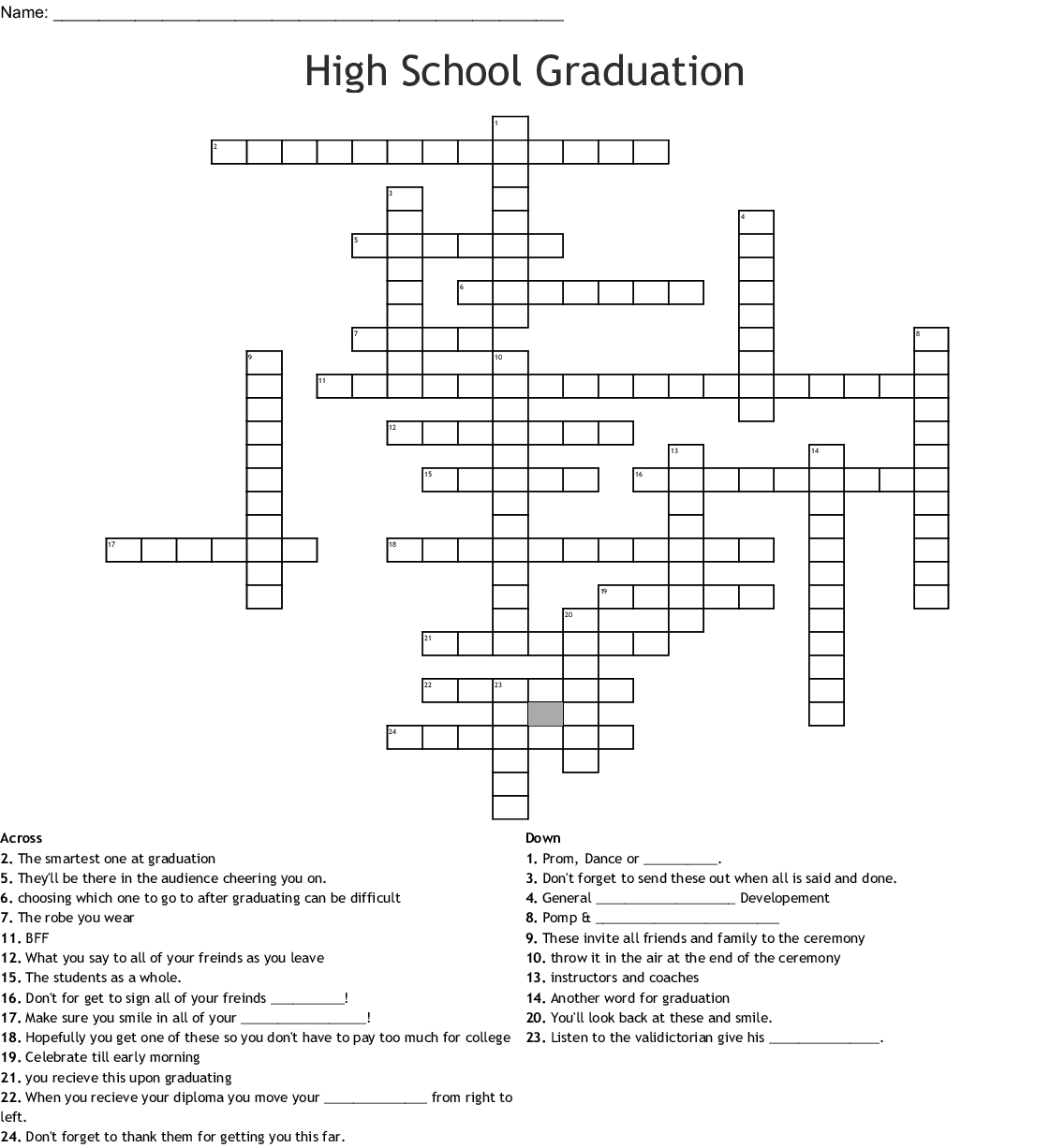 Printable Word Search Puzzles For High School Students